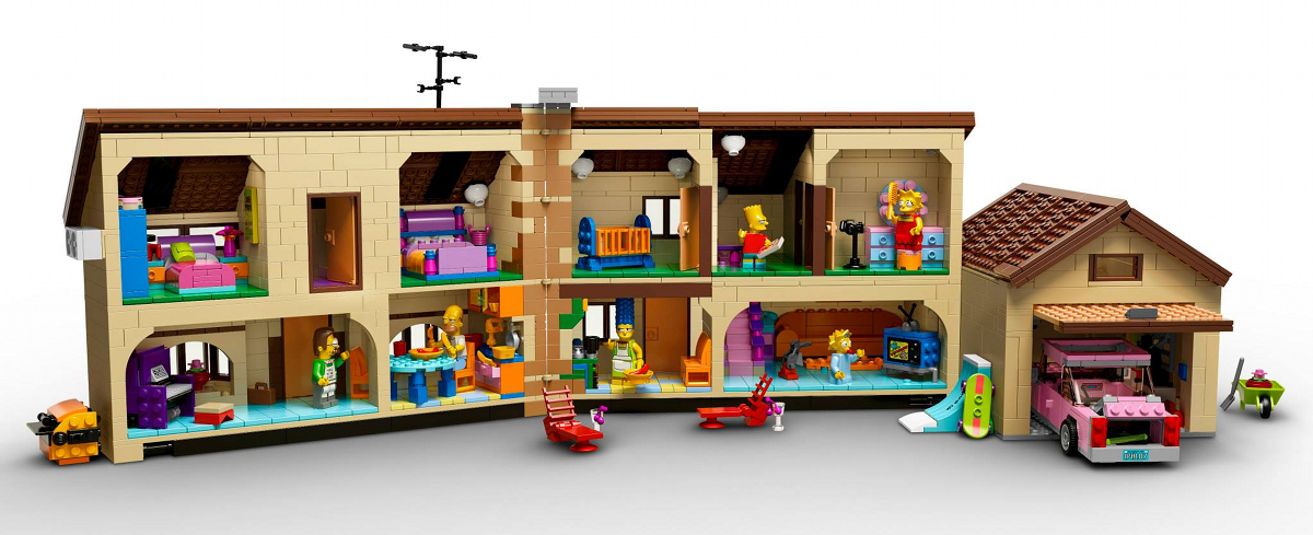 vid o des designers de la maison simpsons lego dad 3 0. Black Bedroom Furniture Sets. Home Design Ideas
