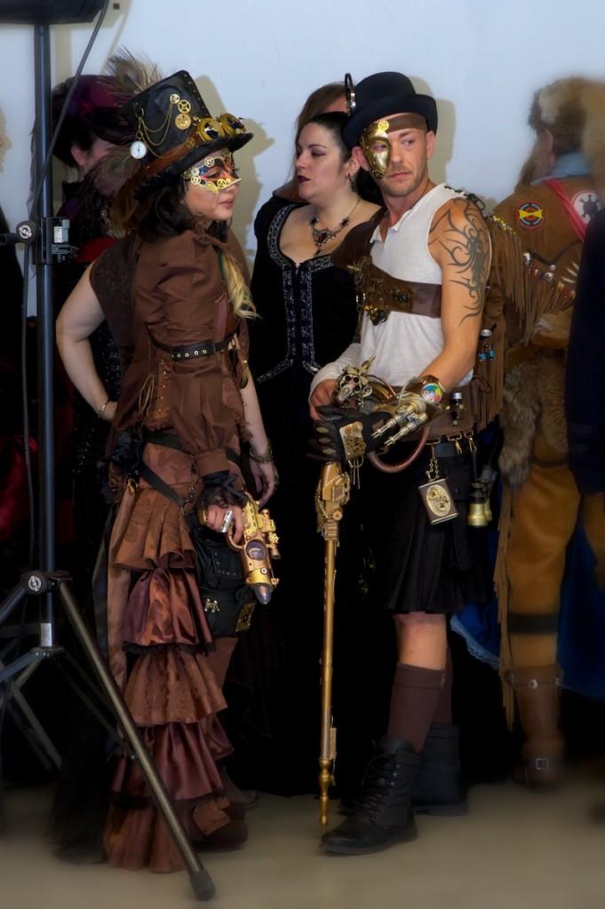 Salon fantastique 2014 cosplay couple steampunk dad 3 0 for Salon fantastique